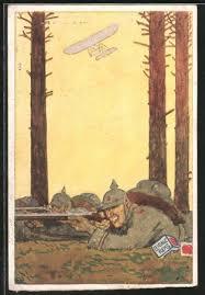 künstler ak leibniz keks infanterie und flugzeug 7271305 alte