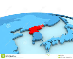 Korea On Map North Korea On Blue Globe Stock Illustration Illustration Of