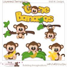 monkey templates clip art designs commercial use products for