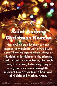 christian thanksgiving prayer st andrew u0027s christmas novena begins november 30th