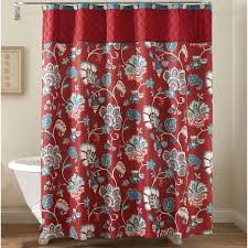 Shower Curtain At Walmart - better homes and gardens red jacobean fabric shower curtain