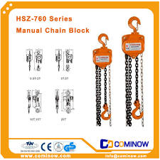 hsz v manual chain block hoist large tonnage chain hoist cominow