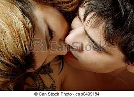 Kiss In Bed Stock Photo Of Kissing In Bed Picture Of Sweet Couple Kissing In