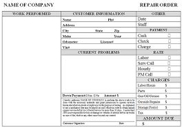 simple auto repair work order auto repair invoice template free