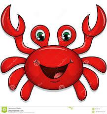 cute crab stock vector image 66552715