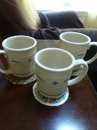 3 like new longaberger coffee mugs mercari buy u0026 sell things