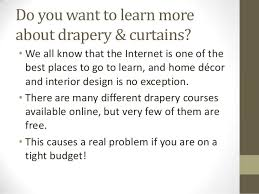 Interior Design Course Online Free by Free Drapery Course Online