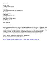 mercury mariner outboard 30 40 4 stroke efi service repair manual