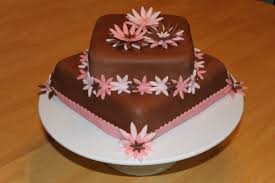 chocolate fondant birthday cake flowers original white