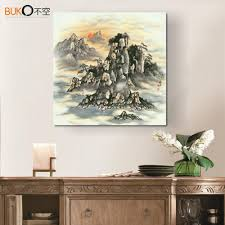popular wall art for dining room buy cheap wall art for dining colorful zen famous landscape paintings wall art for dining room canvas painting poster frames print cuadros