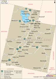 Utah National Parks Map Map Of Utah With Cities And National Parks