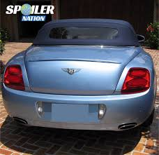 bentley continental convertible 2006 2011 bentley gtc convertible euro rear lip spoiler