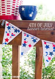 of july party ideas diy patriotic banner
