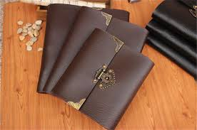 vintage leather photo album vintage pu leather 30 black paper sheets card wedding diy album