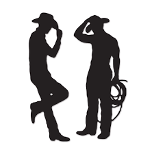 party silhouette amazon com beistle 54225 cowboy silhouettes 35 inch and 37 inch