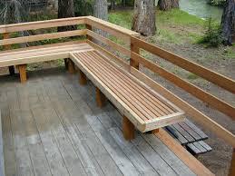 deck railing seating combo slight slant is nice deck bench seating