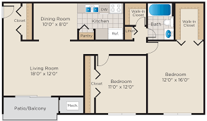 Walk In Closet Floor Plans by Floor Plans Bennington Crossings Alexandria Va Apartments