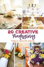 Thanksgiving Table Setting Ideas by Creative Thanksgiving Table Decor Ideas