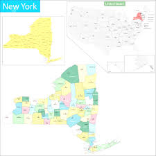 County Map Of New York State by State And County Maps Of New York With Map New York Counties