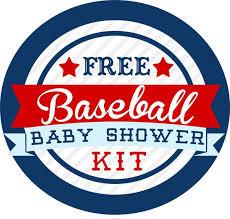 baby shower kits baseball themed baby shower kit free baseball themed baby
