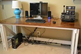 wood computer desk plans full size