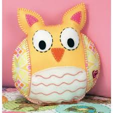 happi owl felt applique pillow kit dimensions felt craft kits