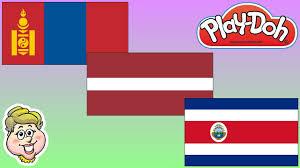 Costarica Flag Play Doh Flags Mongolia Latvia And Costa Rica Ewmj 290 Youtube