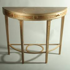 Half Moon Accent Table Table Half Round Console Table Great Tables Oak Half Round