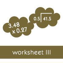 whole number division with decimal answers worksheets