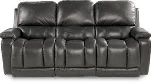 Lazy Boy Leather Reclining Sofa La Z Boy Greyson Gray 100 Leather Reclining Sofa Homemakers
