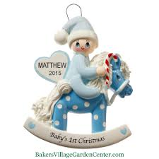 personalized ornaments baby s rocking