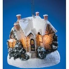 kinkade light up cottage ornament moonlight 2006