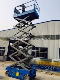 self propelled electric scissor lift platform truck mounted
