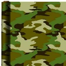 camo christmas wrapping paper camouflage gift wrap 5ft party city