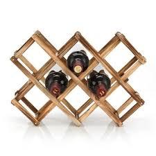 10 bottle wine rack wooden folding vintage standing bottles bar