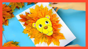 leaf lion craft fall craft for kids youtube
