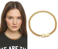 lock choker necklace images Steal her style kristen stewart 39 s favorite chain lock necklace jpg