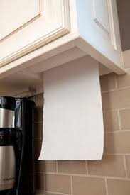 Paper Towel Is Hidden Yet Accessible Love This Cos I Think Paper - Kitchen cabinet towel rack
