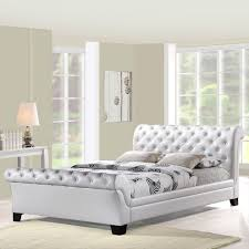 white tufted sleigh bed shapes u2014 vineyard king bed luxurious