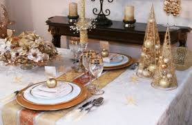 Christmas Table Decoration Ideas by Gold Christmas Table Decorations Designcorner