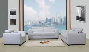 White Leather Living Room Set Modern Leather Sofas Sets Designer Living Room Furniture Bonded