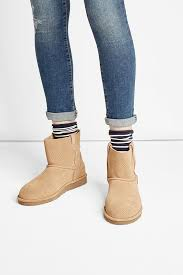 womens ugg boots ugg australia ugg australia unlined mini suede ankle boots beige ugg