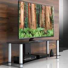 Modern Media Storage Furniture by Fitueyes Curved Tempered Glass Tv Stand Suit Tv Stand