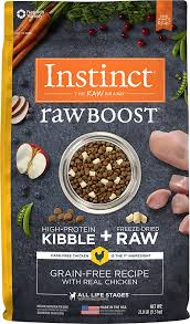 instinct by nature u0027s variety raw boost grain free recipe with real