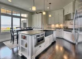 international concepts kitchen island traditional kitchen with l shaped transom window in des moines