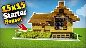 build a house minecraft 15x15 starter house tutorial how to build a house in