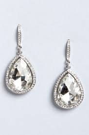 tear drop earrings teardrop earrings rhinestone earrings silver earrings