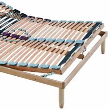 rete con materasso rete a doghe in legno con alzata manuale testa piedi lemon