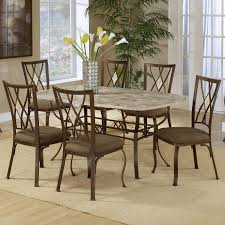 seven piece rectangle dining and diamond back chair set by