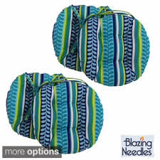 blazing needles patterned 16 x 16 inch round outdoor chair